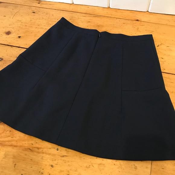 J. Crew Dresses & Skirts - J.Crew Fluted Skirt in Double Crepe- Navy